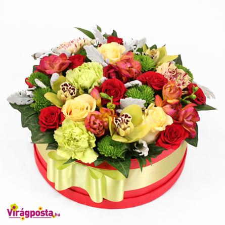 Virágposta - Minek nevezzelek - színpompás virágbox