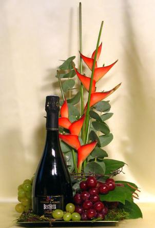 Virágposta - Francia pezsgő - VIP virágtál