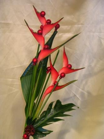 Virágposta - Karácsonyi dupla helikónia