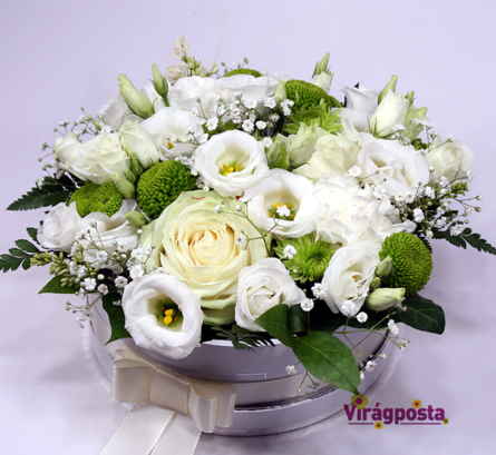 Virágposta - Hófehér - Virágbox