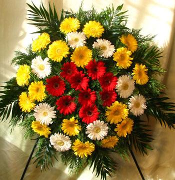Virágposta - Koszorú gerberával