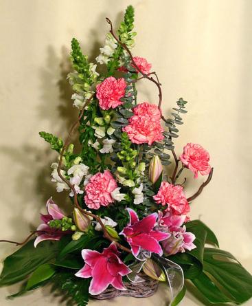 Virágposta - Retro Virágkosár