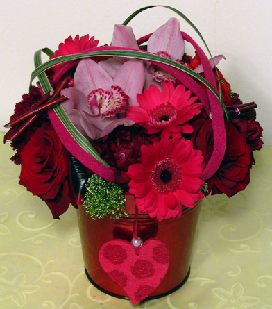 Virágposta - Pink-piros virággömb
