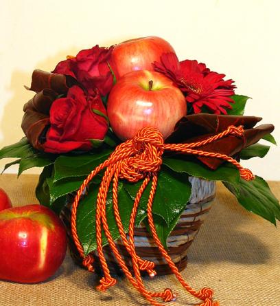 Virágposta - Piros almák, piros rózsák