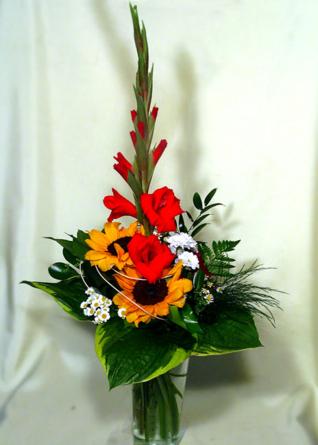 Virágposta - Napraforgós csokor