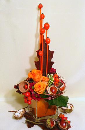 Virágposta - Narancs és gesztenye!