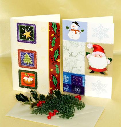 Virágposta - Extra Karácsonyi képeslap, színes
