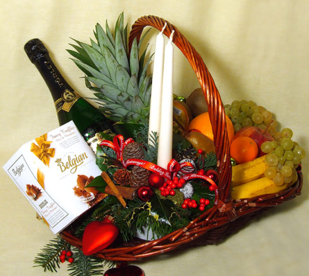 Virágposta - Gyümölcskosár DeLux - Karácsonyra