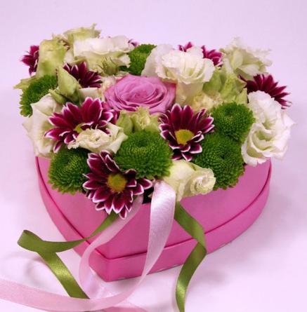 Virágposta - Tiéd a szívem! - Virágdoboz