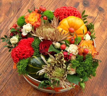 Virágposta - Varázsdoboz Őszi színekben