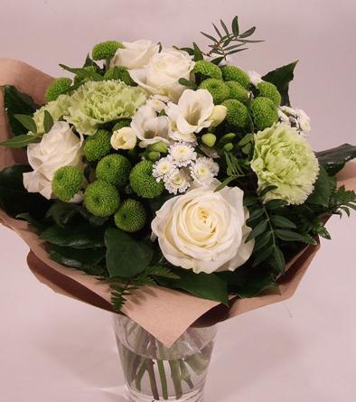 Virágposta - Friss szél - csokor zöld-fehérben