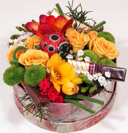 Virágposta - Édes Tavasz! - virágbox Szamos katicával és Mercivel