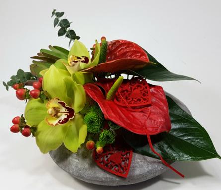 Virágposta - Nem múló szeretettel - kőtál orchideákkal