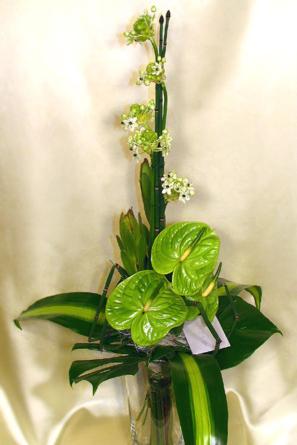 Virágposta - Elegancia zöld színben