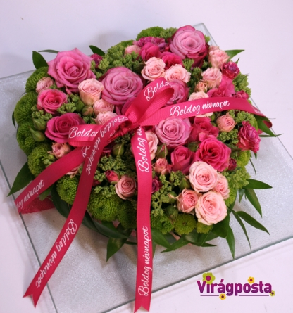 Virágposta - Boldog, Boldog! Rózsaszív