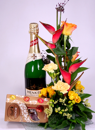 Virágposta - Köszöntés szeretettel és pezsgővel :-)